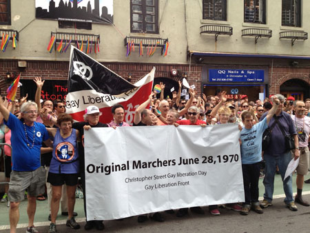 GLF in HOP 2013 in front of the Stonewall